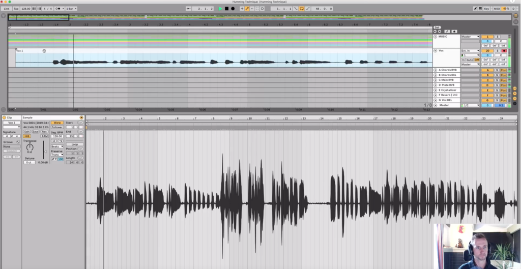 pull the audio in time with the rest of your music