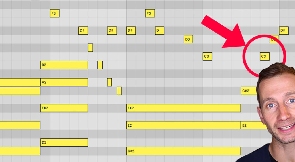 how to write chords from a melody