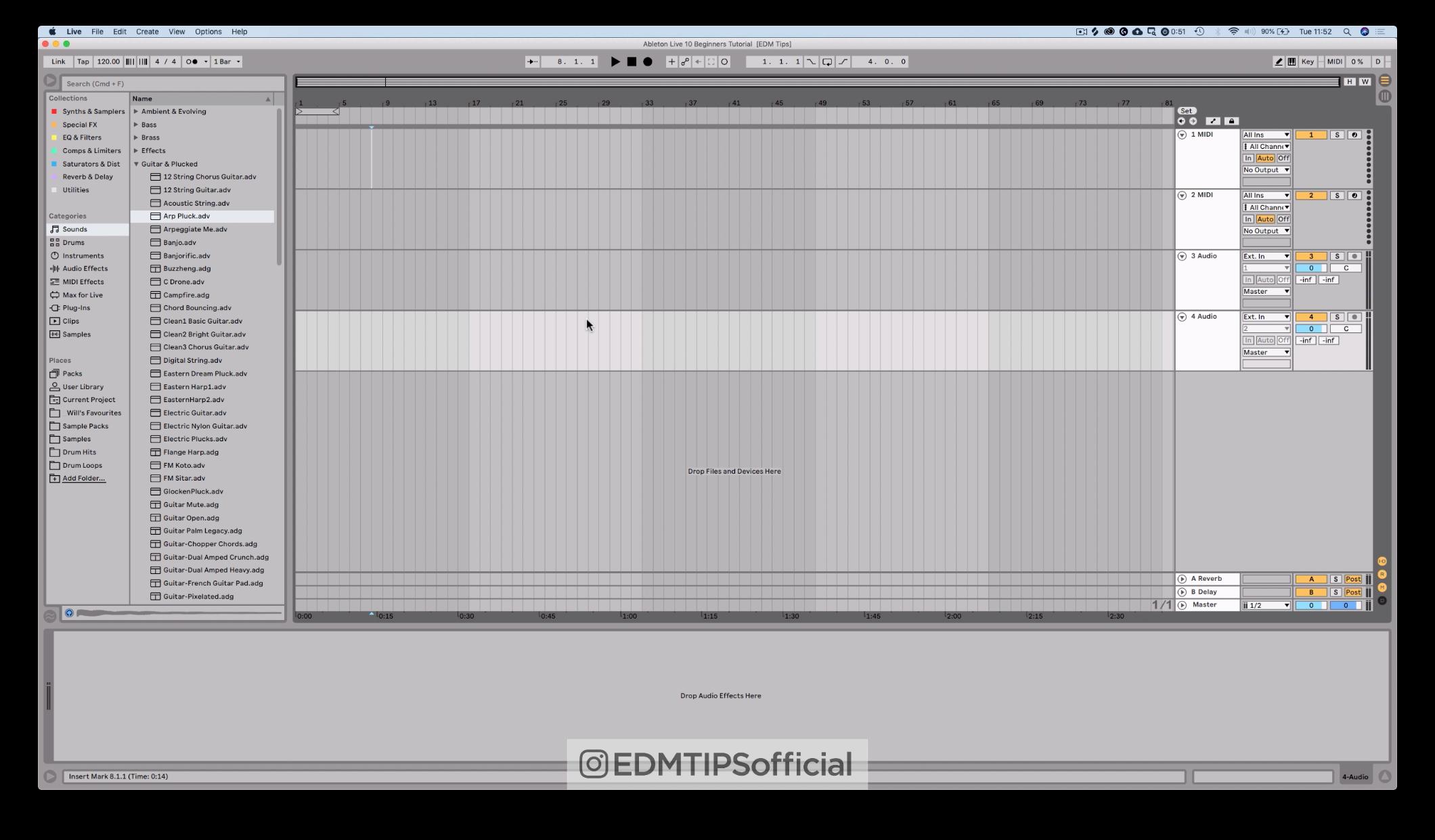 Ableton Live 10 Arrangement View